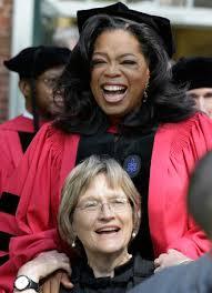 Harvard's President, Drew Faust, and Oprah